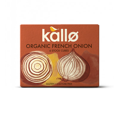 Kallo Organic French Onion Stock Cubes - 6 Cubes (66g)