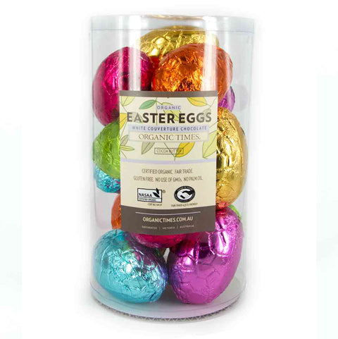 Organic Times White Chocolate Easter Egg - 70g