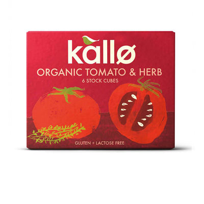 Kallo Organic Tomato and Herb Stock Cubes - 6 Cubes (66g)