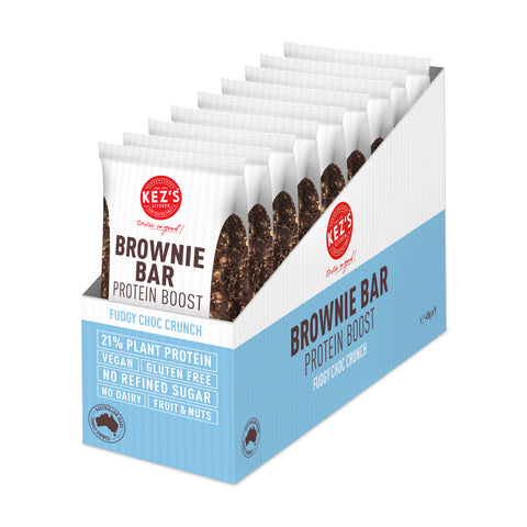 Kez's Kitchen Fudgy Choc Crunch Protein Brownie Bar - 45g