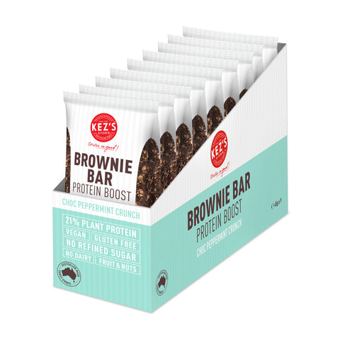 Kez's Kitchen Choc Peppermint Crunch Protein Brownie Bar - 45g