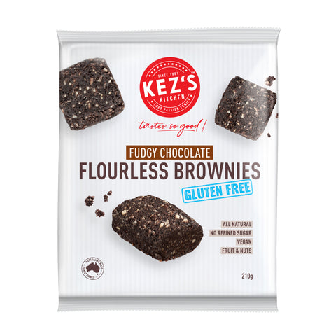 Kez's Kitchen Fudgy Chocolate Flourless Brownies - 210g