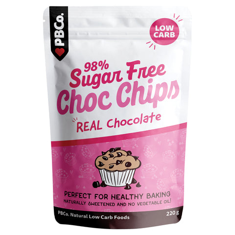 PBCo. Low Carb 98% Sugar Free Chocolate Chips - 220g