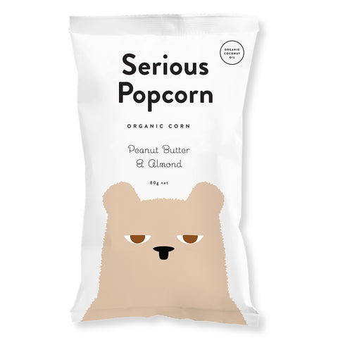 Serious Food Co Peanut Butter and Almond Popcorn - 80g