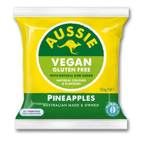 Allsep's Aussie Vegan Pineapples - 50g **In temporary Clear Bag**