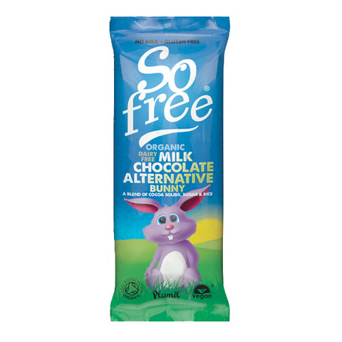 So Free Organic Dairy Free Milk Chocolate Alternative Bunny Bar - 25g