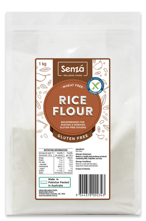 Senza Wellness Foods Rice Flour - 1kg