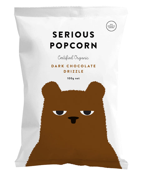 Serious Food Co. Popcorn with Dark Chocolate Drizzle - 100g