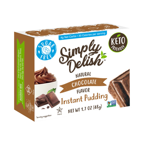 Simply Delish Natural Chocolate Flavor Instant Pudding - 6x 48g
