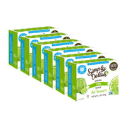 Simply Delish Natural Lime Flavoured Jel Dessert - 6x 20g