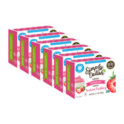 Simply Delish Natural Strawberry Flavor Instant Pudding - 6x 48g