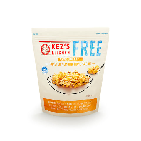 Kez's Kitchen Roasted Almond, Honey and Chia Cereal - 1kg
