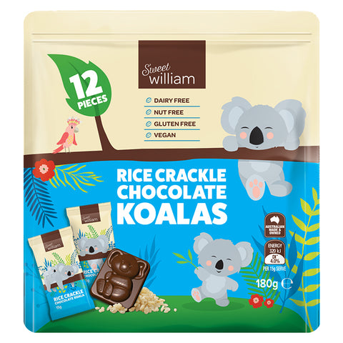 Sweet William Koala Crackle Multipack 180g