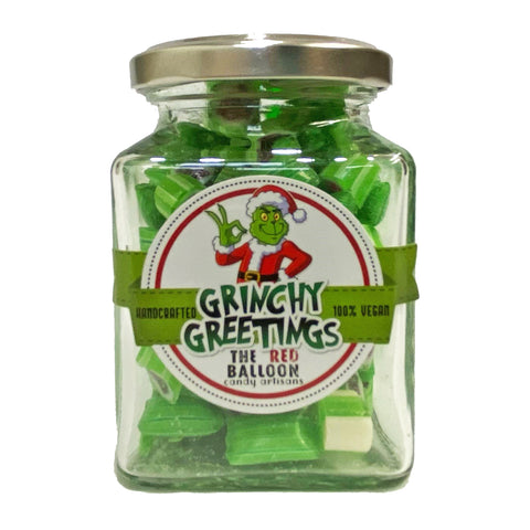 The Red Balloon Rock Candy Grinchy Greetings 230g