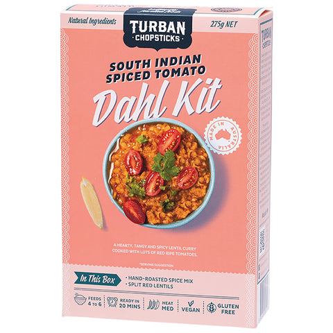Turban Chopsticks South Indian Spiced Tomato - Dahl Kit - 275g net