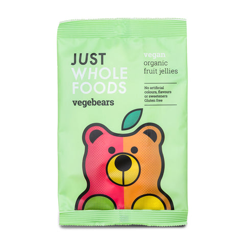 Just Whole Foods Organic Fruit Jellies - Vegebears - 100g