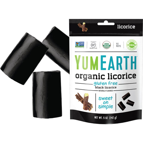 Yum Earth Organic Black Licorice - 142g