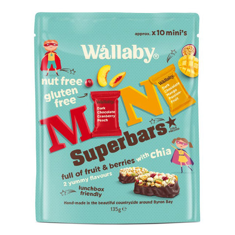 Wallaby Fruit & Choc Mini Superbars 135g