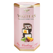 Walters Dark Choc Mint, Cranberry & Orange Nougat 140g
