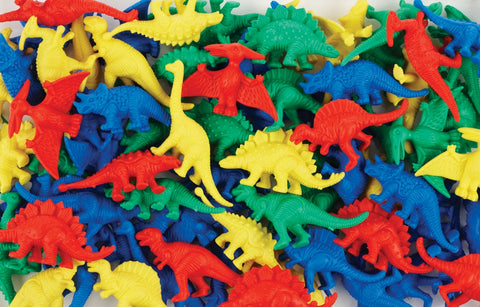 EDX - Dinosaur Counters 6 Colours 64pcs