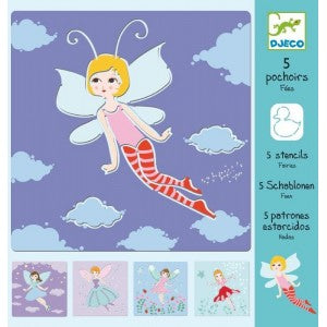 Djeco - Fairies Stencils