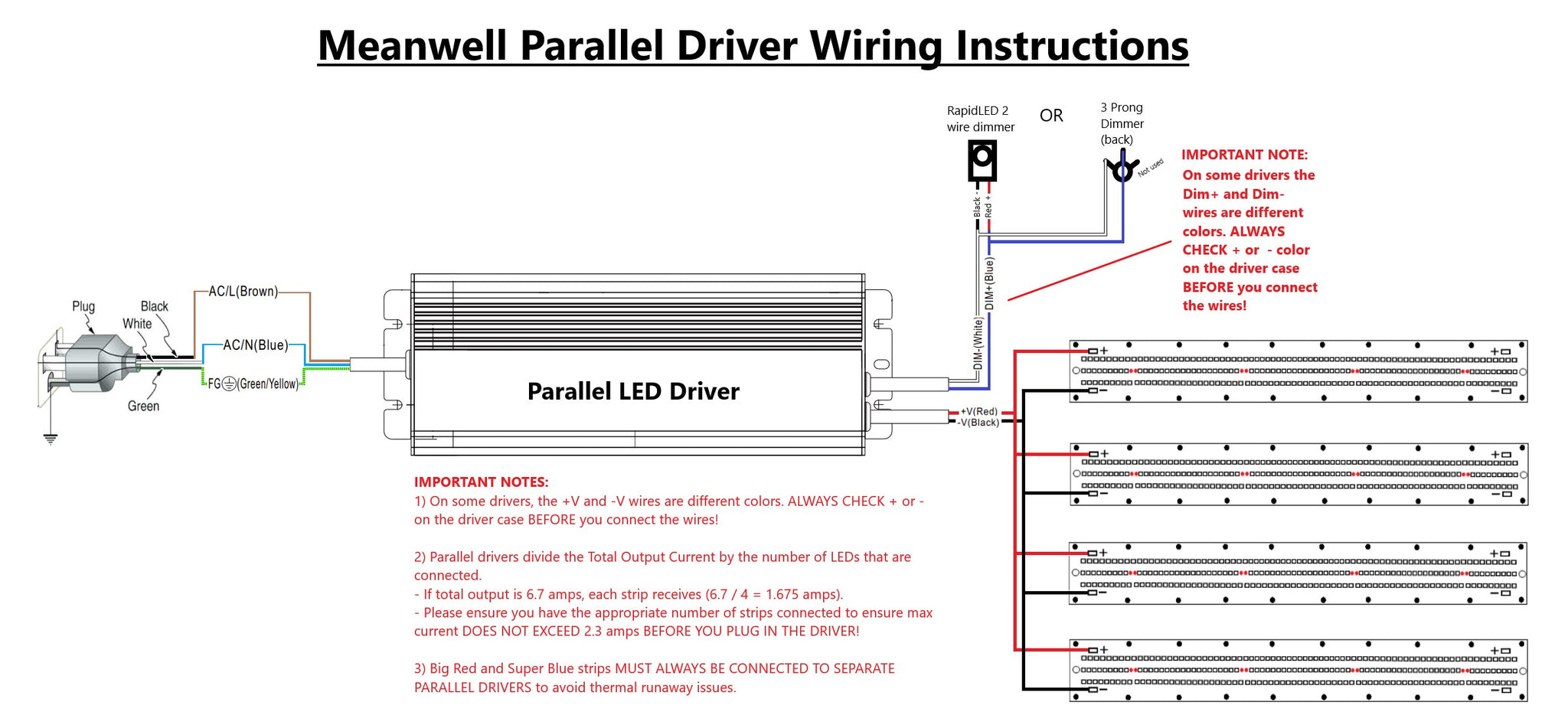 Parallel Wiring Instructions for LED Driver