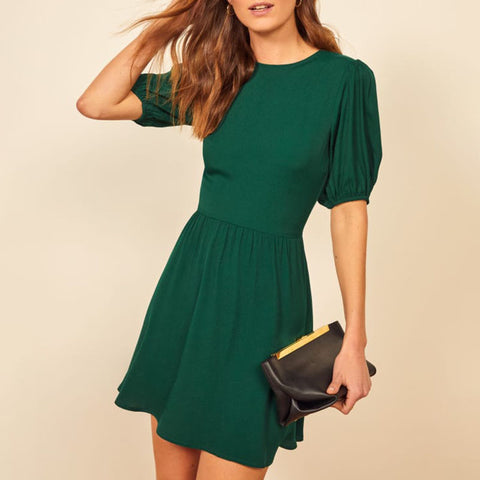 Women's casual round neck dress