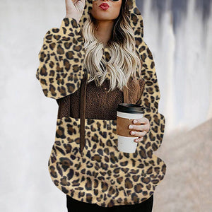 Fashion Leopard Print Matching Hoodie