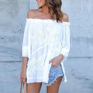 Off Shoulder Half Sleeve Elegant Blouses