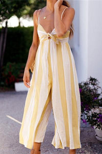 Sexy Stripe Sling Leisure Jumpsuits