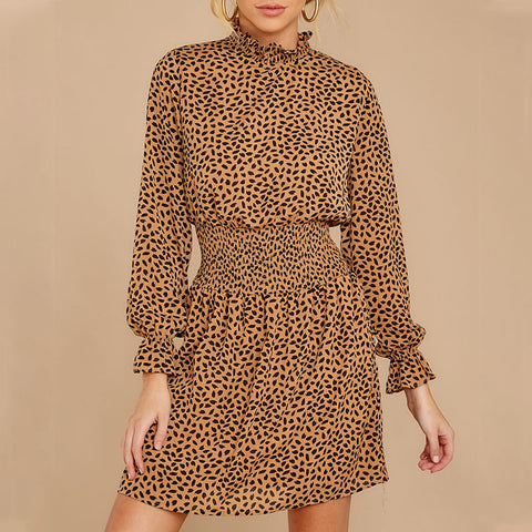 Women's Fashion Polka Dot Long Sleeve Dress