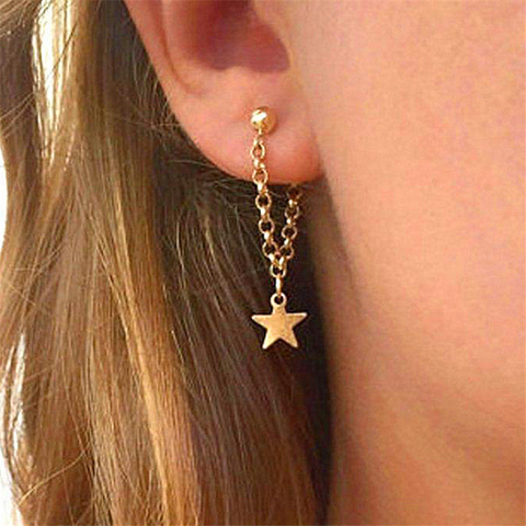 Women's fashion five-pointed star earrings