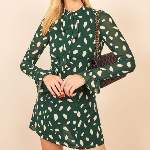 Women's elegant printed dress