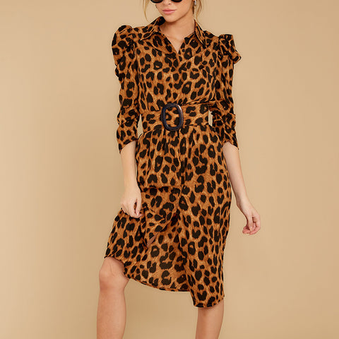 Women's fashion personality leopard dress