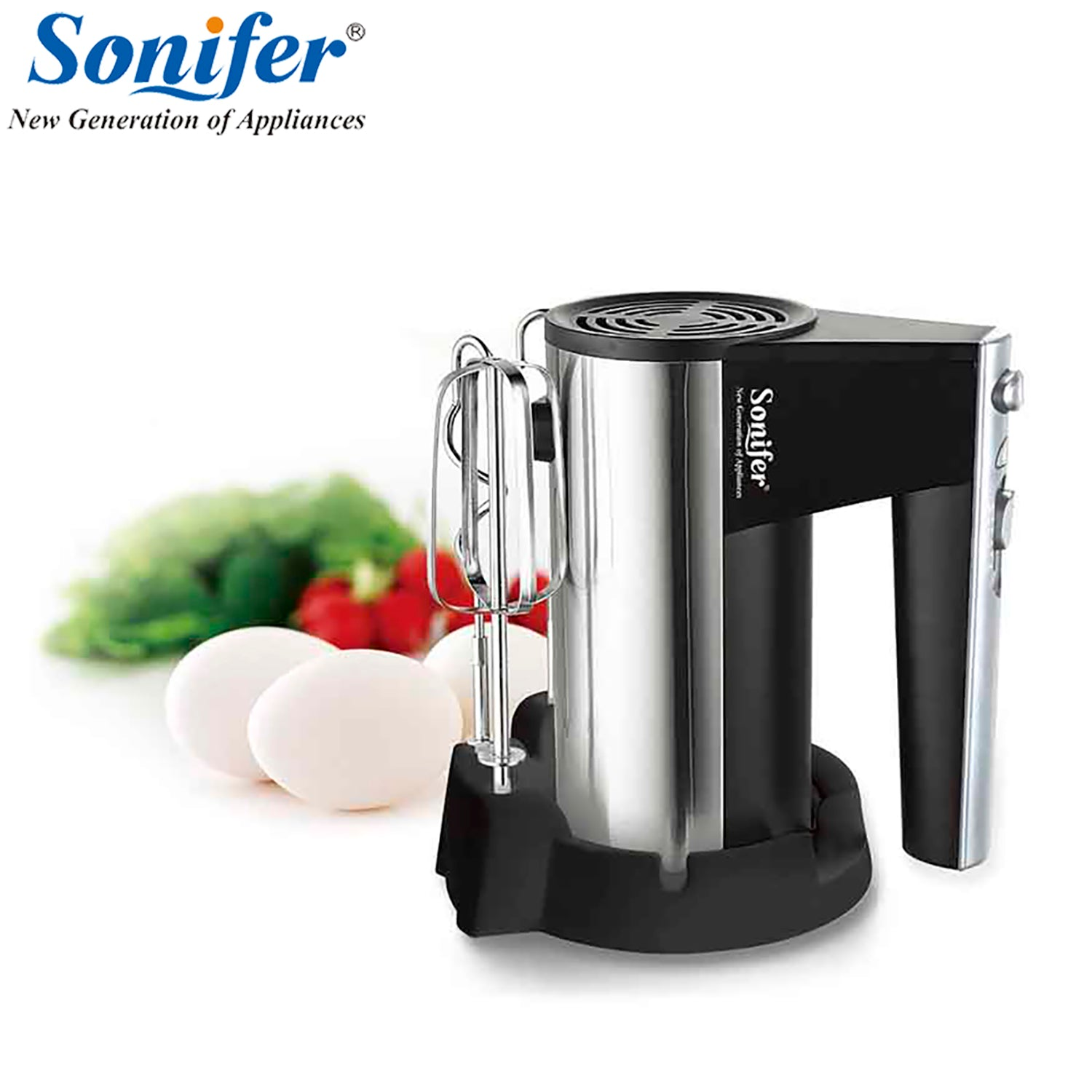 Hot Sale Kitchen Appliances Hand Mixer with 300W and 5 Speeds with holder