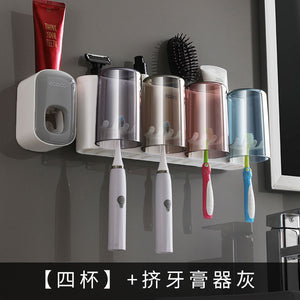 BATHROOM toothpaste holder set