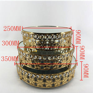 Hot-selling European crystal cake pan, metal high-foot cake stand