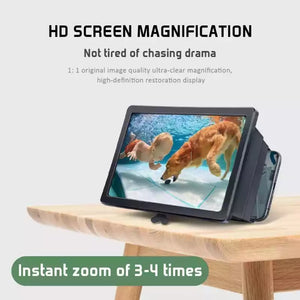 F1 & F2 3D Mobile Phone Screen Magnifier Kifaa cha kukuzia screen ya simu