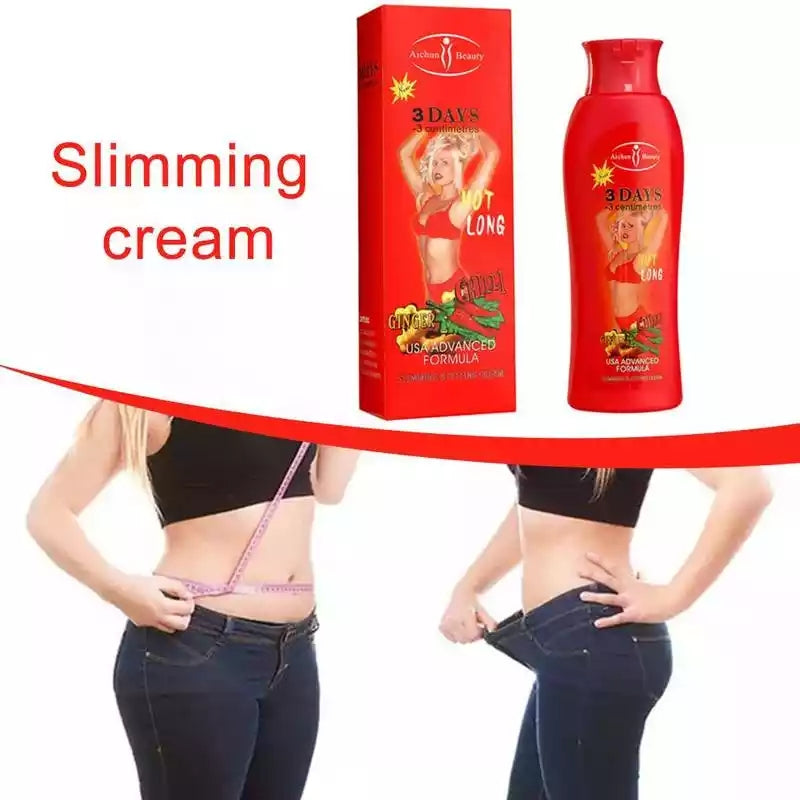 Cream ya kupunguza unene, 200ml Fat Burning Ginger Body Cream Belly Slimming Gel Fitness Fat Burner Slimming Cream