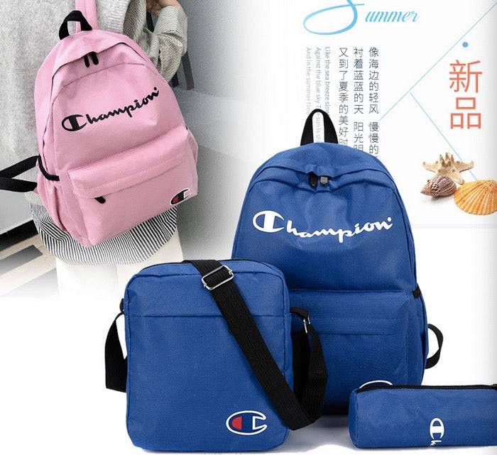 Wholesale  college style new canvas letter pattern backpack multi-purpose large capacity student school bag