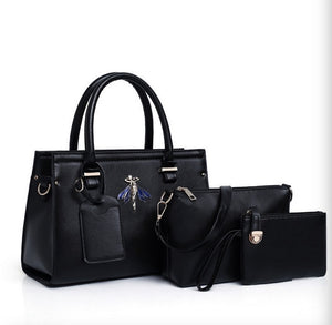 European and American fashion new  three-piece ladies bag big mother bag shoulder portable