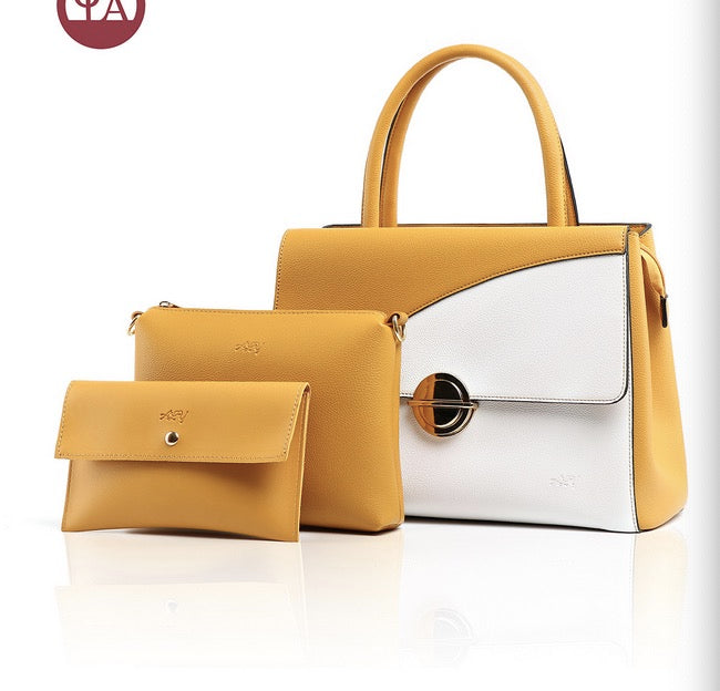 Wholesale PU female buns and mother bags three-piece fashion  ladies casual bags new spot supply