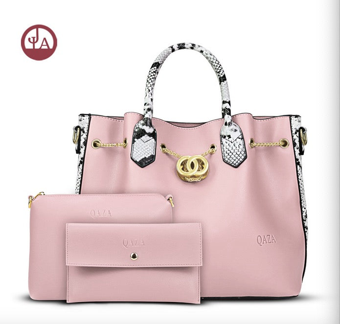 Women's bags PU leather child and mother bags three-piece one-shoulder handbag