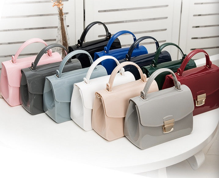 Jelly bag trend wild lock solid color female bag wholesale fashion literary candy color handbag