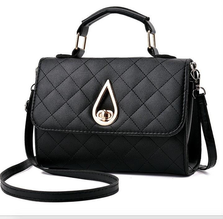 New handbag small bag female Korean fashion wild rhombic water drop shoulder diagonal small square bag