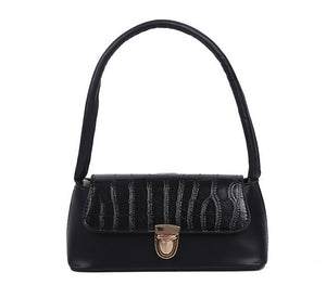 New cheap and simple hundred tower shoulder bag female baguette bag foreign style handbag v