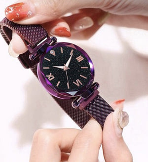 Net red star watch female fashion tape quartz ladies watch lazy magnet watch wholesale one drop