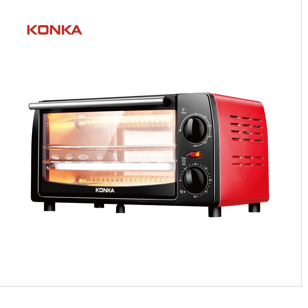 12L Household Mini Intelligent Timing Baking Home Life Kitchen Bread Toaster Electric oven Bread baking machine