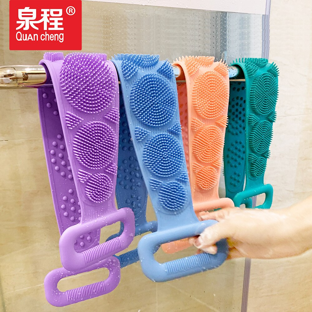 New Style Silica Gel Bath Brush Kikomo cha uchafu na ukurutu