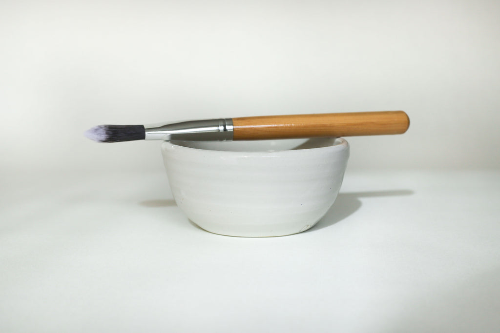 Handmade Ceramic Bowl and Application Brush